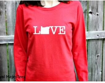 Love Oregon Shirt, Long Sleeve Oregon Shirt