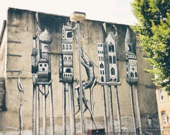 London Street Art Print, Graffiti Art, Surreal, Fine Art Photo, Contemporary Wall Art, Urban Decor, teen boys room decor, office decor,