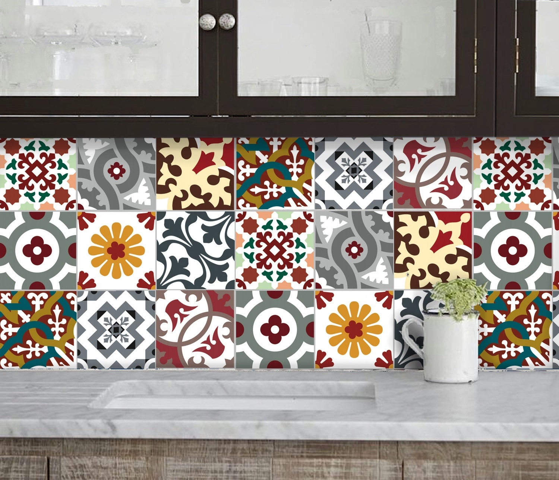 cuisine salle de bains carrelage autocollants vinyle. Black Bedroom Furniture Sets. Home Design Ideas