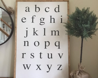 alphabet | handpainted sign