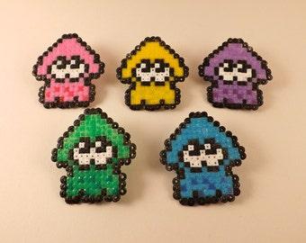 Splatoon Pixel Pins