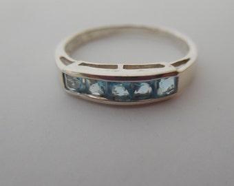 Blue Topaz Ring | Silver Ring | Blue Topaz Jewelry | Silver Jewelry | December Birthstone Ring | December Gemstone | Birthstone Jewelry