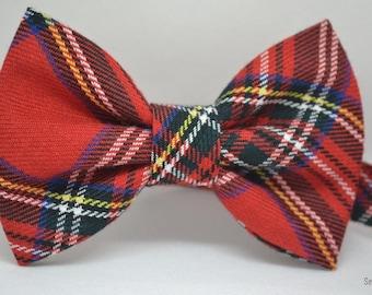 Red Tartan Bow tie - Men's bow tie - Baby bow tie - Child bow tie - Toddler bow tie - Tartan Bow tie - Gift for him - Men Accessories