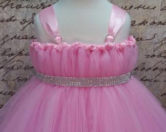 Flower Girl Pink Tutu Dress. Purple Tutu Dress. Size NB-10Y
