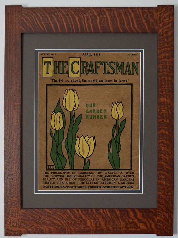The Craftsman Tulips Mission Style Art In Quartersawn Oak
