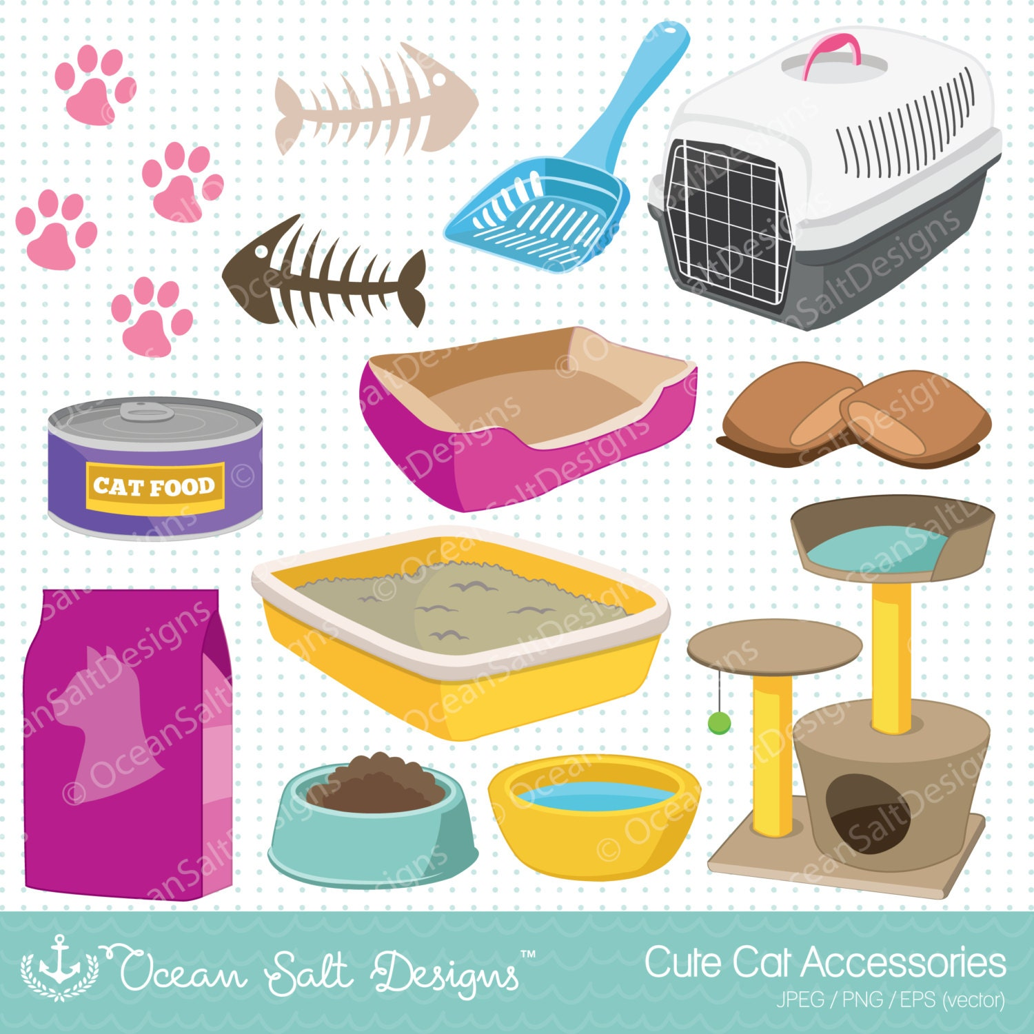 Toy Food Clip Art : Cat toys clipart food kittens furniture