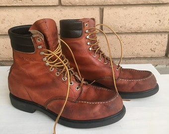 Red Wing Lace Up Work Boots Mens Size 11 1/2 C