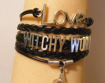 Witch bracelet, witch jewelry, witchy woman bracelet, witchy woman jewelry, pagan bracelet, pagan jewelry, fashion bracelet, fashion jewelry