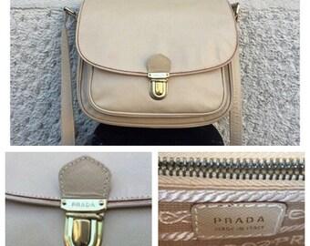 PRADA - 90s Prada Saffiano Leather Bag