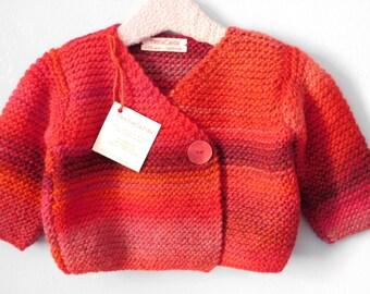 Sweater girl 9/12 months red wool melange