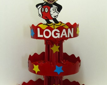 Mickey Mouse Handmade Personalized Birthday Cupcake Stand/Centerpiece