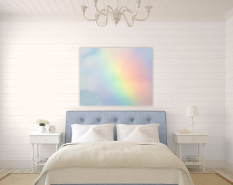 Somewhere Over the Rainbow ~ Canvas, Fine Art Photography, Bedroom, Bathroom, Decor, Wall Art, Cheerful, No Frame Needed, Joules