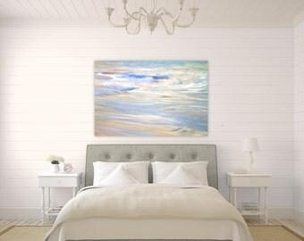 Aqua Pura ~ Caribbean, Canvas, Abstract, Beach, Photography, Ocean, Waves, Sunlight, Coastal Home Decor, Wall Art, Nautical, Seascape, Art