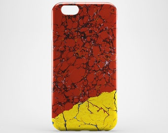 Red Marble iPhone Case iPhone 7 Yellow Marble Phone Case iPhone 7 Plus iPhone 4-5 iPhone 6 iPhone 6 Plus Case iPod Touch Galaxy Case LG G4