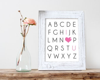 ABC I Love You 8x10 Printable