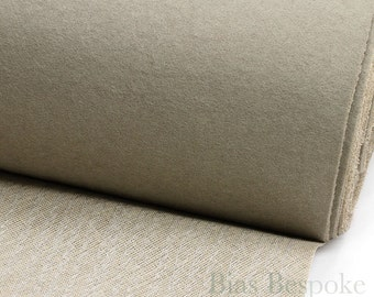 Taupe Undercollar for Tailoring - Ready Made, Felt with Canvas, Sold by the Yard
