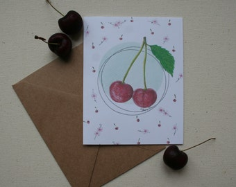 greeting card, little cherry!