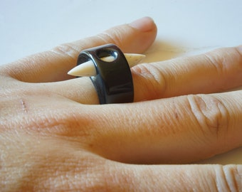 American Bison Spike Ring SIZE 9