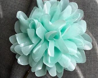 Chiffon Flower Lapel Pin