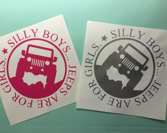 Jeep Decal, Car Decal, Jeeps Are For Girls Decal, Jeep Sticker, Jeeps Are For Girls Sticker, Phone Sticker, Phone Decal