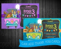 Scooby Doo Birthday Invitation. Digitial Deivery. Custom