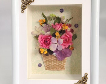 Real 3D flower pot picture