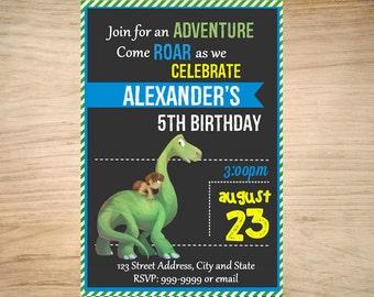 Good Dinosaur Birthday Invitation - Good Dinosaur Invitation - Good Dinosaur Birthday Invite - Invitation- Digital 24 - Good Dinosaur