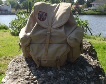 vintage french La|Fuma backpack, rucksack, mountaineering backpack , 1960s
