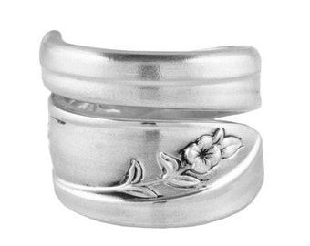 Spoon Ring, Silver Tulip,Silver Spoon Jewerly, Handmade ring, Vintage spoon ring, Silver ring, Spoon Jewelry, Silver Spoon Ring, Vintage