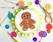cross stitch kits, secret santa, stocking fillers, modern cross stitch, patterns, the make arcade, funny crafts, gifts , gingerbread ,
