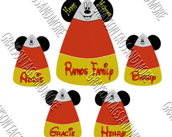 Family Candy Corn Disney Cruise Magnet Set