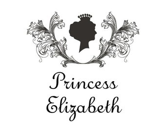 Kids Name Stamp - Princess Stamp - Custom Name Stamp - Personalized Self-inking Stamp