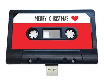4GB/8GB/16GB USB Mixtape-Retro Personalized-  Xmas Gift - Music Lovers, Present, Boyfriend, Girlfriend, Christmas, Stocking Filler, Quirky