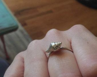 Lil Sea Shell Sterling Silver Ring