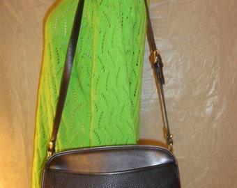 Black Pebbled Leather Dooney & Bourke Shoulder Bag