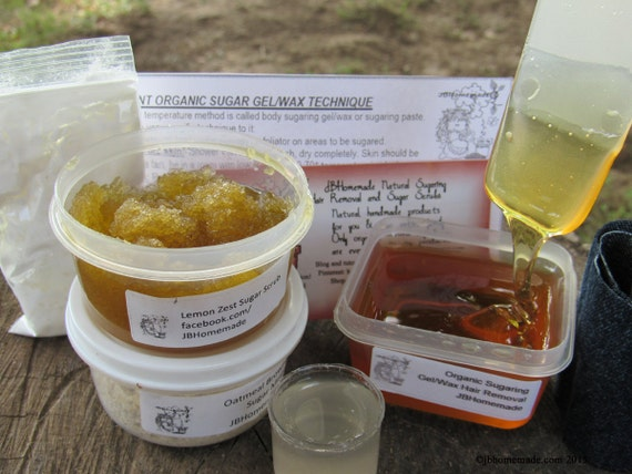 Natural Lemon Zest Scrub Sugaring Wax Deluxe Starter Kit