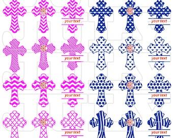 Cross SVG, Christian Svg Files, Cross Monogram SVG, Christian Cross Cut Files, Monogram Christian Svg, png, eps, dxf, Cross Monogram Frame
