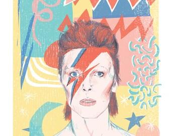david bowie ziggy stardust print