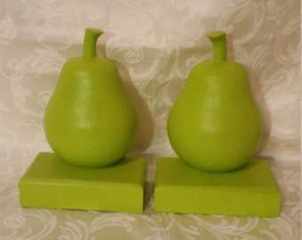 Green Pear Bookends