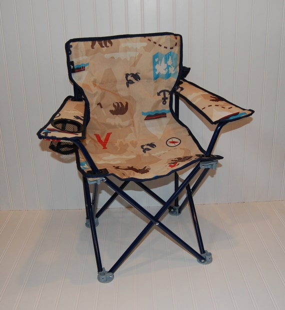 Personalized Toddler Boy Folding Camping Chair Adventure