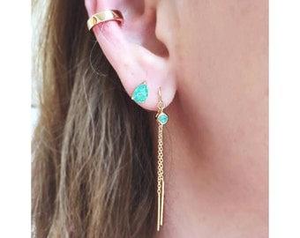 Solid Gold Ear Cuff, Adjustable Ear Cuff, 14K Gold Ear Cuff, Non Pierced Ear Cuff, Ear Wrap, Ear Cuff Non Pierced