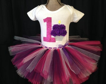 First birthday outfit, Smash cake outfit, pink and purple first birthday, girls first birthday shirt, girls birthday outfit, 1st birthday
