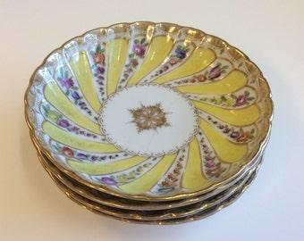 Antique Bohemian Porcelain Dishes, Set of Four