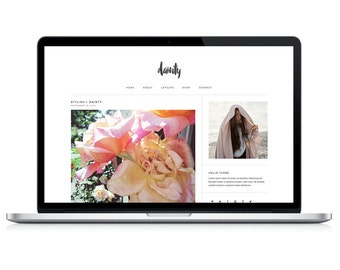 "wordpress theme ""dainty"" - responsive premade blog template design - modern & stylish"