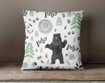 Bear Throw Pillow Covers : Bear pillow Etsy