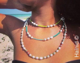 Necklace beads, seed set of Greens, seeds job's tears, tropical seeds