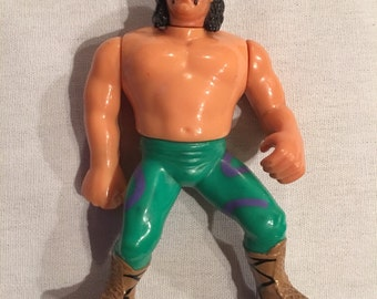 vintage wwf hasbro wrestler action figure jake the snake roberts with snake
