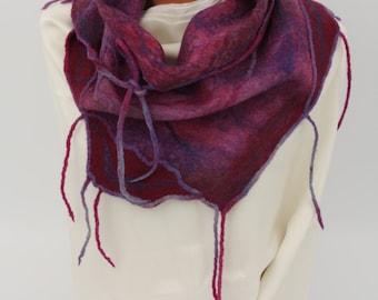 Felted scarf for women, woolen scarf, stole, shawl, merino wool scarf, woolen accessories