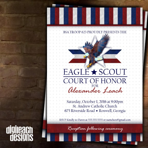Court Of Honor Invitation was awesome invitation ideas