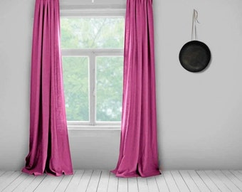 Pink Curtains- Lined- Hot Pink- Made to Measure Curtains- Bespoke Curtains- Linen Curtains- Pink Curtains- Large Curtains- Bright